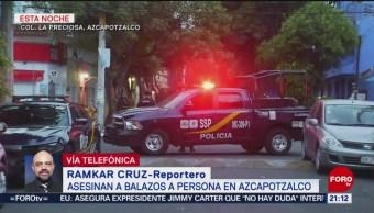 FOTO: Asesinan a balazos a un hombre en Azcapotzalco, 30 Junio 2019