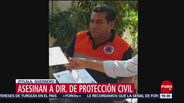 FOTO: Asesinan a director de Protección Civil de Zitlala, Guerrero, 29 Junio 2019