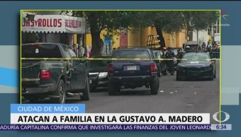 Atacan a balazos a una familia en la Gustavo A. Madero