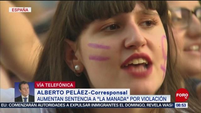 FOTO:Aumentan sentencian a 'La Manada' por violación a joven en San Fermín, 22 Junio 2019