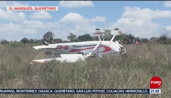 Foto: Avioneta Aterriza Emergencia El Marqués Querétaro 28 Junio 2019
