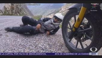 Ayleen Martínez, chilena que recorre el mundo en motocicleta