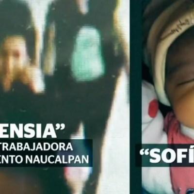 ¡Qué bonita bebé! Ladrona de una recién nacida en Naucalpan ya la seguía