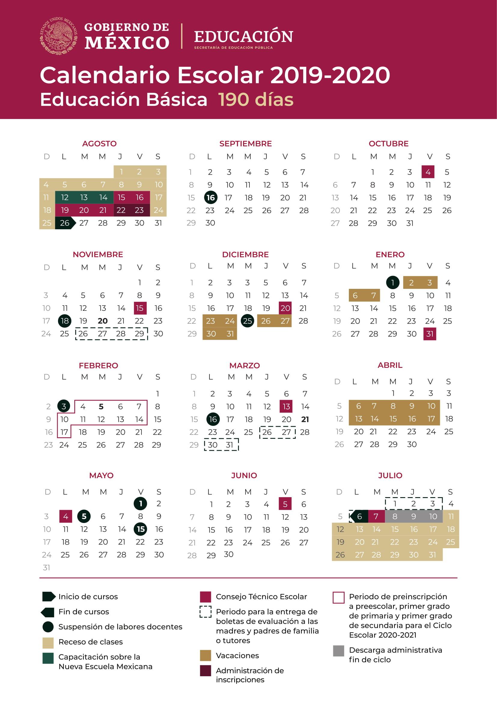 Calendario Escolar 2020 Aragon.Cuando Empiezan Las Vacaciones De Verano 2019 En Mexico
