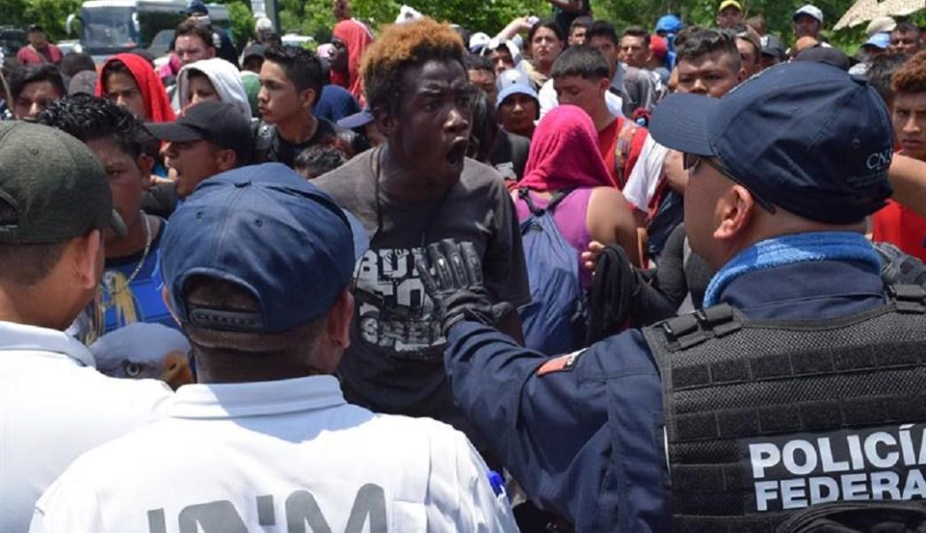 Foto: Caravana migrante en la frontera sur de México, 5 de junio 2019. EFE