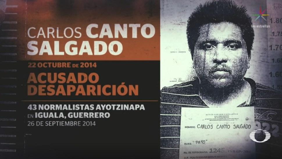 Imagen: Carlos Canto Salgado, acusado de la desaparición de los estudiantes el 22 de octubre de 2014, el 26 de junio de 2019 (Noticieros Televisa)