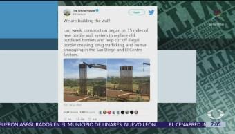Casa Blanca muestra avances de muro fronterizo