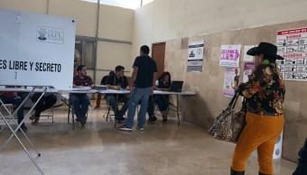 Foto: Casilla de votación en el estado de Durango, México, junio 2 de 2019 (Twitter: @belemuchis)