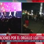 FOTO: Celebraciones en el Zócalo capitalino tras marcha LGBTTTIQA, 29 Junio 2019