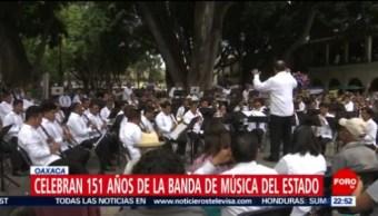 FOTO: Celebran 151 años de la Banda de Música del Estado en Oaxaca, 23 Junio 2019