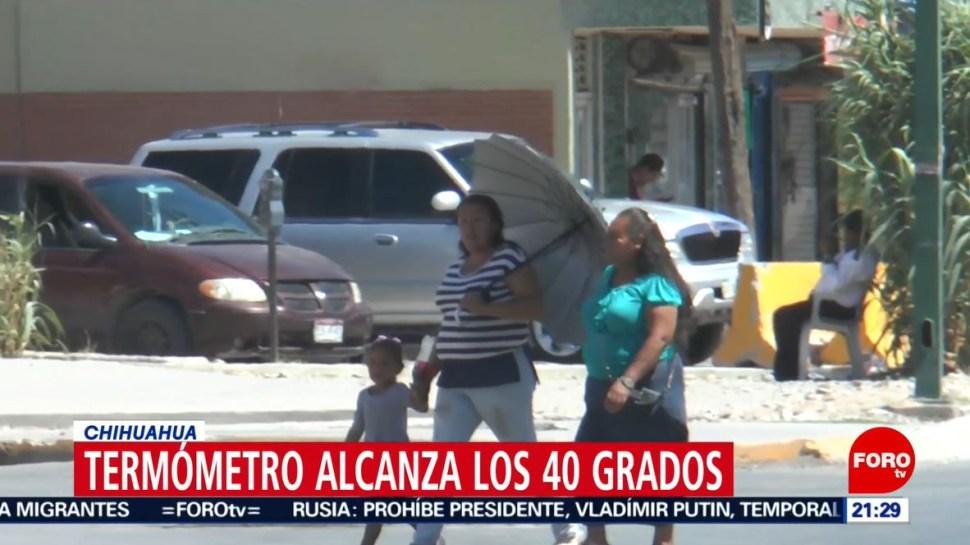 Foto: La Secretaría de Salud en Chihuahua ha registrado al menos 20 casos de agotamiento físico por el calor, el 23 de junio de 2019 (Noticieros Televisa)