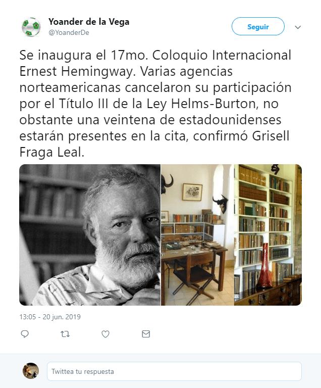 Hemingway une a Cuba y Estados Unidos pese a restricciones