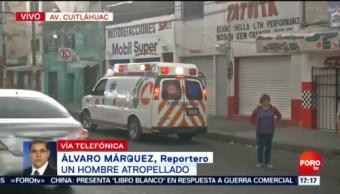 FOTO: Conductor se da a la fuga tras atropellar a un hombre en Azcapotzalco, 2 Junio 2019