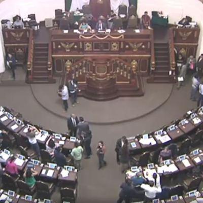 Fotografía que muestra una sesión de la Asamblea Legislativa de la CDMX.