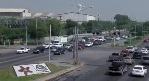 Foto: contaminación ambiental en Monterrey, 24 de junio 2019. Twitter @_LASNOTICIASMTY