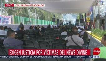 FOTO: Continúa bloqueo en Molina por familiares de víctimas del News Divine