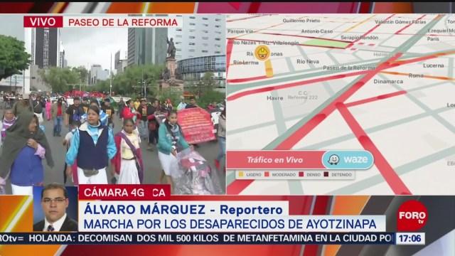 Foto: Cortes a la circulación por marcha en conmemoración de desaparecidos