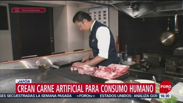 FOTO: Crean carne artificial para consumo humano en Japón