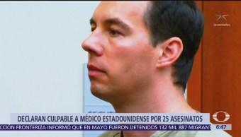 Declaran culpable a médico estadounidense por 25 asesinatos