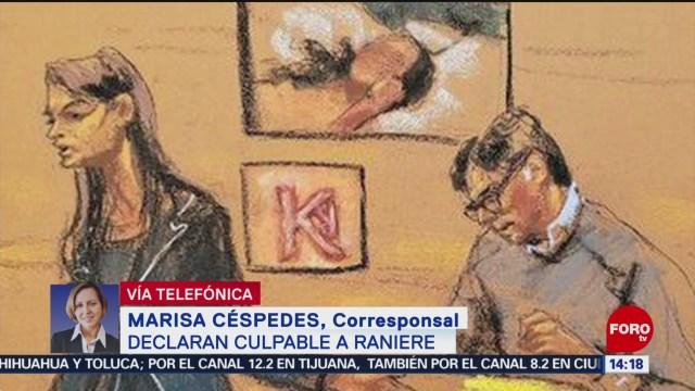 FOTO: Declaran culpable a Raniere, podría alcanzar cadena perpetua