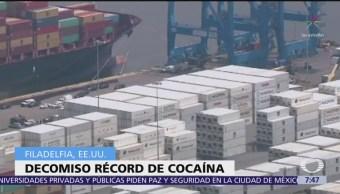 Decomisan toneladas de cocaína en Philadelphia