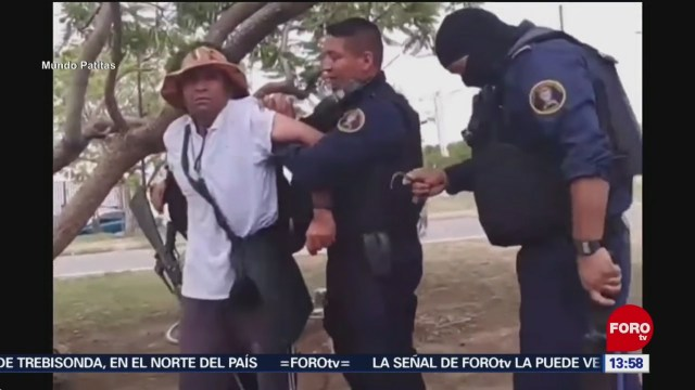 FOTO: Denuncian abuso de policías contra indigente en Salamanca