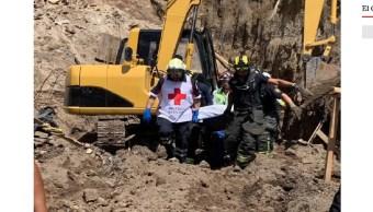 Rescatan cuerpo de hombre atrapado en derrumbe en Álvaro Obregón