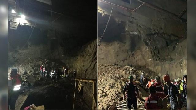 Foto: Derrumbe en la construcción de un complejo habitacional en la alcaldía Álvaro Obregón, 8 junio 2019