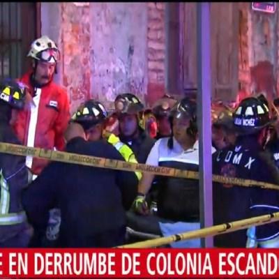 Derrumbe de techo en vivienda deja dos muertos en la Escandón