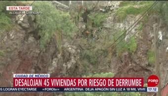 Foto: Desalojan 45 viviendas en riesgo de colapso en alcaldía Iztapalapa