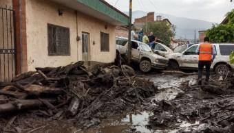 Foto: desbordamiento de río en San Gabriel, Jalisco, 3 de junio 2019. Twitter @PCJalisco