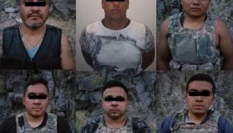 Foto: Presuntos integrantes de 'La Gente Nueva del Tigre', 20 de junio 2019. Twitter @ComSocChih