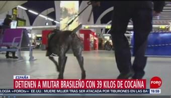 Foto: Detienen Militar Brasileño 39 Kilos Cocaína España 27 Junio 2019