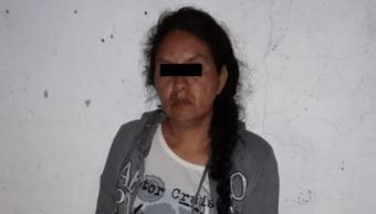 FOTO Detienen a mujer que robó a una bebé en el Registro Civil de Naucalpan (Fiscalía Edomex 12 junio 2019)
