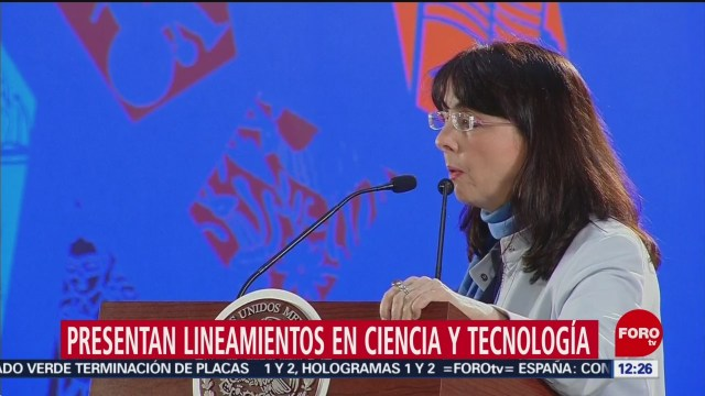 Directora de Conacyt presenta lineamientos en ciencia y tecnología