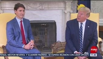 Donald Trump sostiene encuentro con Justin Trudeau
