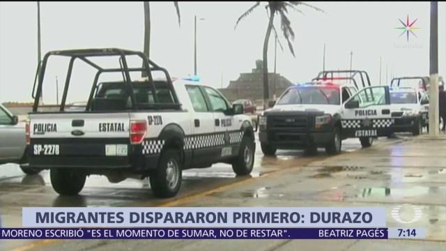 Durazo afirma que migrantes dispararon primero durante ataque en Veracruz