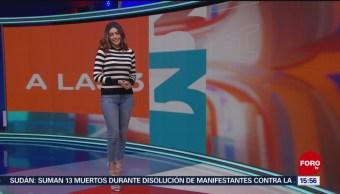 Foto: El Clima 'A las tres' con Daniela Álvarez del 3 de junio de 2019