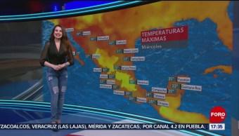 Foto: El clima, con Mayte Carranco del 26 de junio de 2019