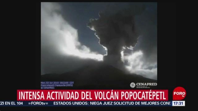 Foto: El Popocatépetl ha tenido intensa actividad en las últimas 24 horas