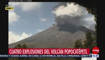 FOTO: El volcán Popocatépetl ha registrado 4 explosiones este lunes, 17 Junio 2019