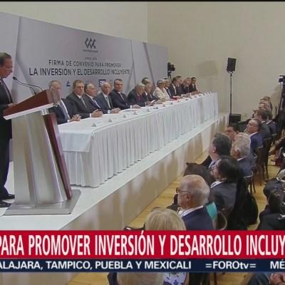 Empresarios firman compromiso de inversión con el Gobierno Federal