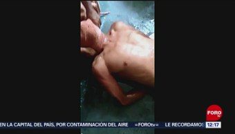 En video, captan torturas contras presos de Chiconautla
