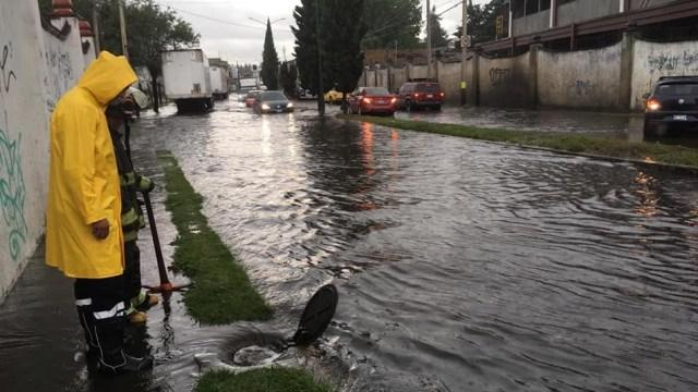 Foto: encharcamientos en Toluca, 4 de junio 2019. Twitter @TolucaGob