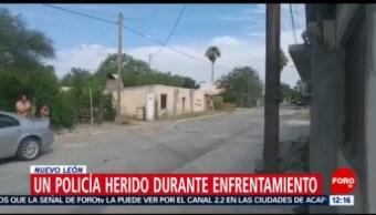 Enfrentamiento en Nuevo León deja un policía herido