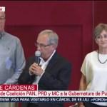 FOTO: Enrique Cárdenas ofrece mensaje tras jornada electoral del 2 de junio en Puebla, 2 Junio 2019