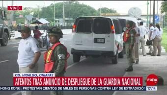 Foto: Esperan despliegue de la Guardia Nacional en la frontera sur