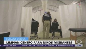 Estados Unidos limpia de moho centros de detención para niños migrantes