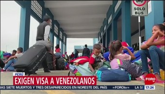 FOTO: Exigen visa a venezolanos en Perú, 15 Junio 2019