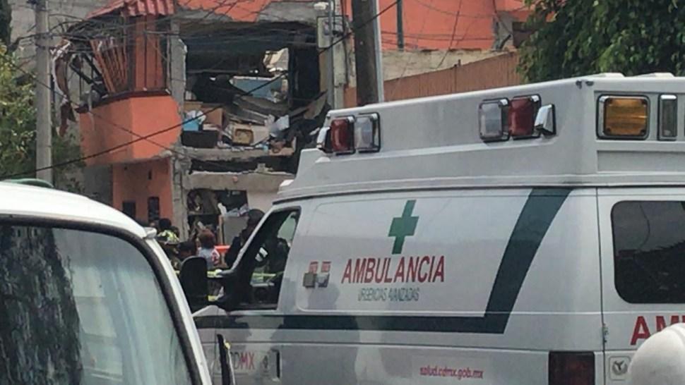 Foto Explosión en Iztacalco dentro de casa por acumulación de gas 26 junio 2019